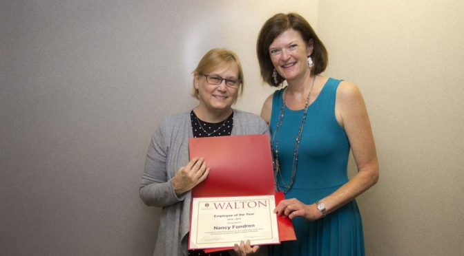 Fondren Named Walton College Employee of the Year