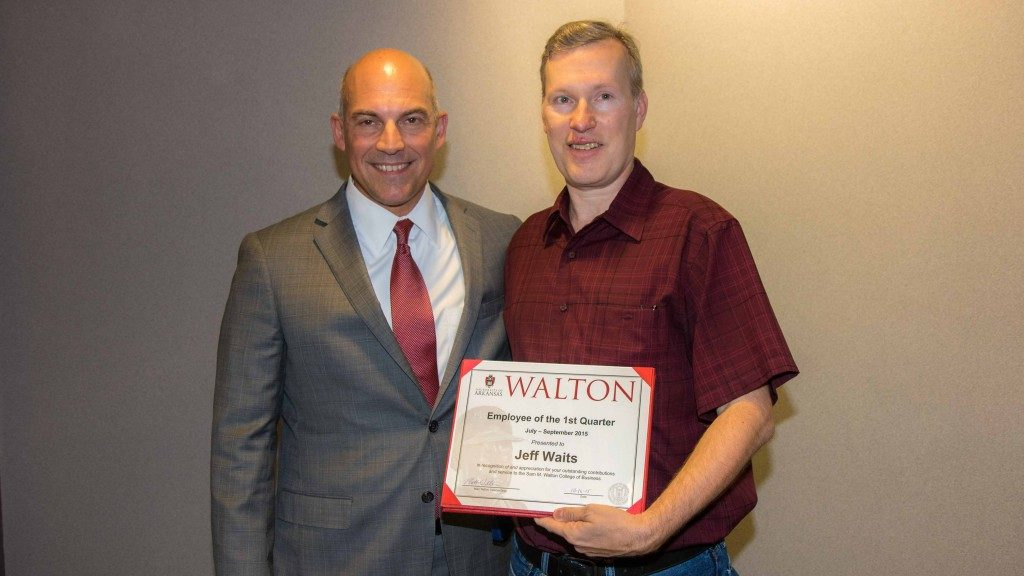 Waits Named Walton College Employee of the Quarter