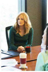 While working at General Mills, Emily Harbuck is pursuing an EMBA degree.