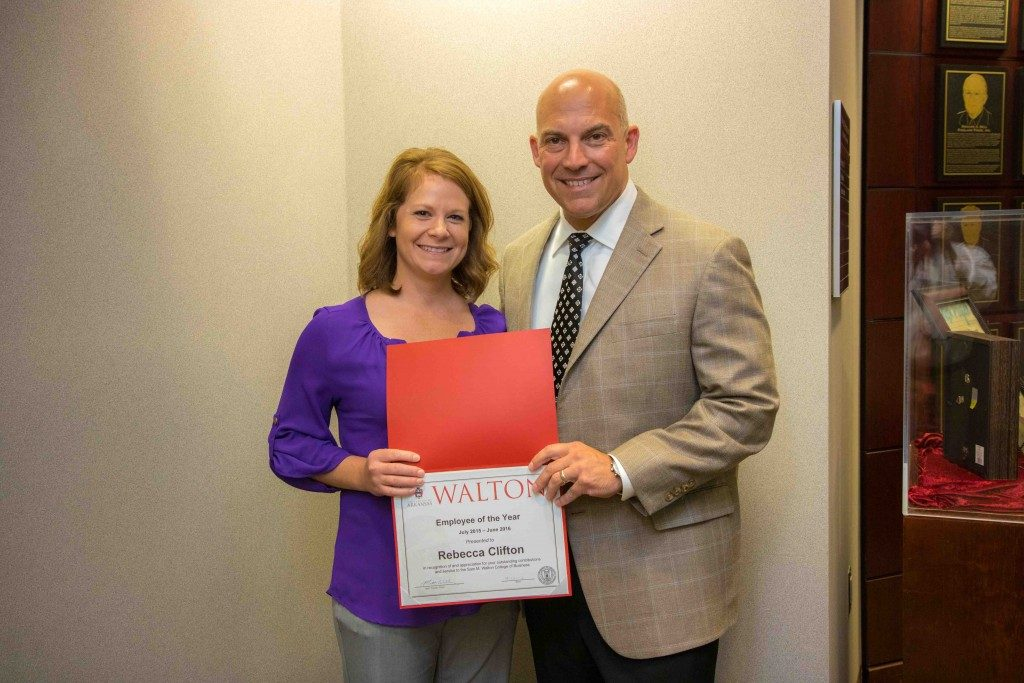 Clifton Named Walton College Employee of the Year