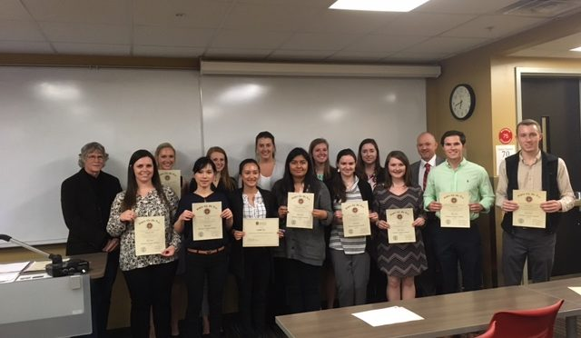 Supply Chain Management Honor Society Inducts New Members