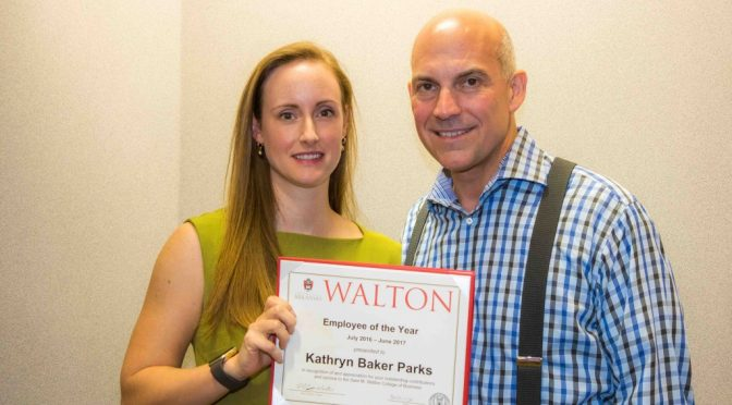 Baker Parks Named Employee of the Year by Walton College