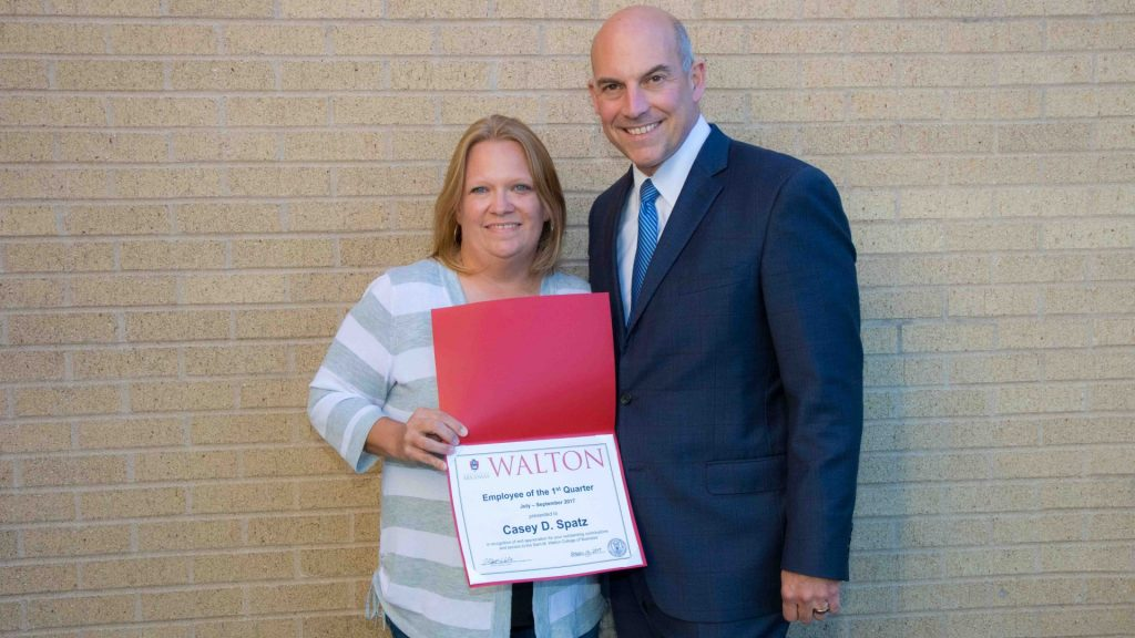 Spatz Named Employee of the Quarter