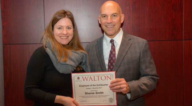 Smith Named Walton College Employee of the Quarter
