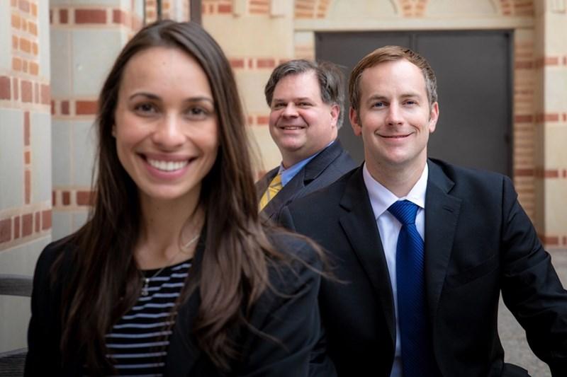 Lapovations: (l-r) Flavia Araujo, Michael Dunavant, and Jared Greer [Photo Courtesy Rice University]