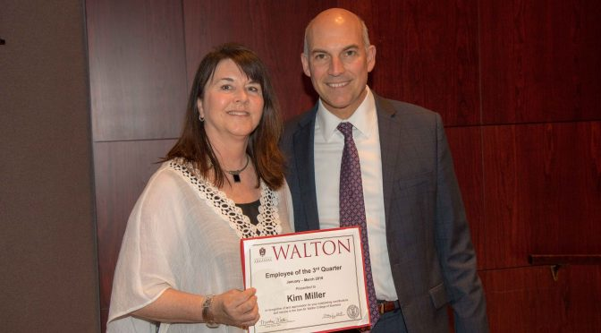 Miller Named Walton College Employee of the Quarter