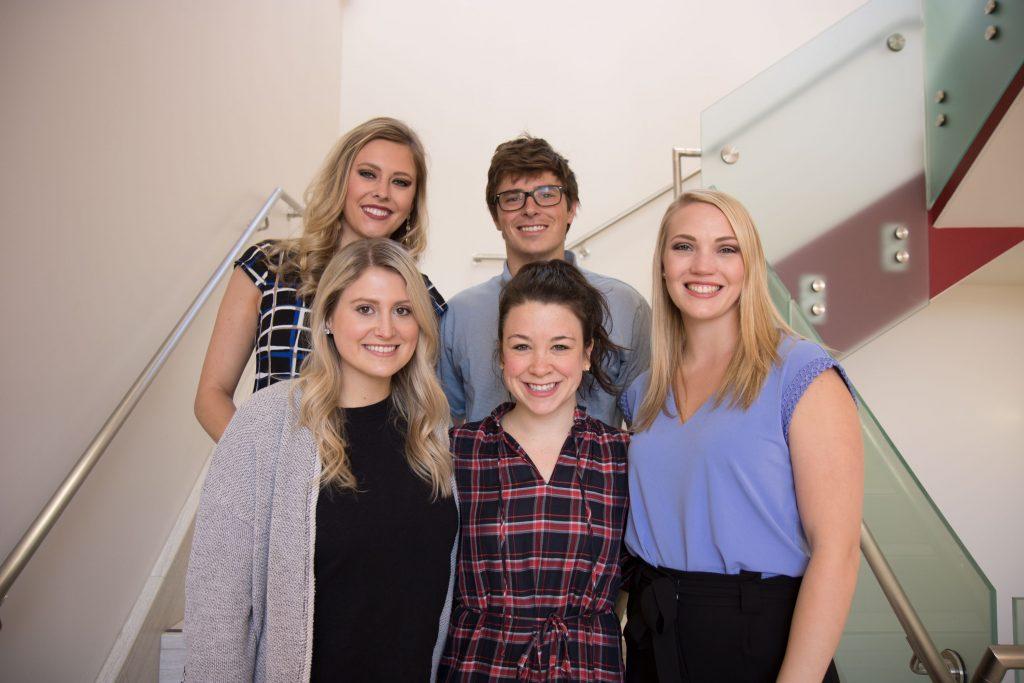 Nature Valley team: Front row (l-r) – Chloe Elkins, Anna Nettles, Caroline Sontag. Back row (l-r) – Landri McGregor, Jase Rapert.