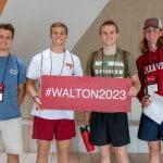 Sam M Walton College of Business freshman orientation 2019