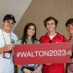 Students from Walton College orientation 2019.