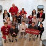 Students at 2019 Walton College orientation