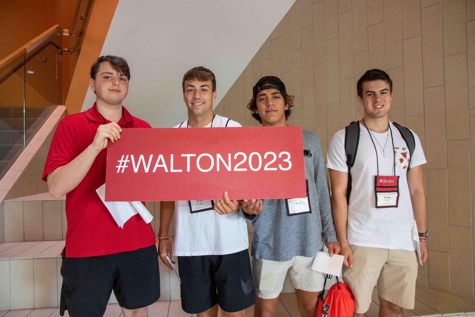 Sam M Walton College of Business students freshman orientation 2019