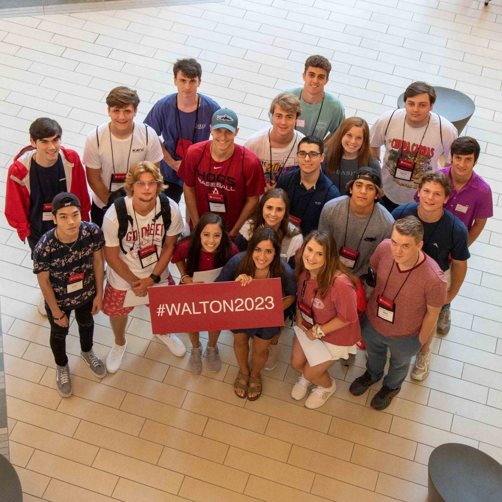 Sam M Walton College of Business students freshman orientation 2019