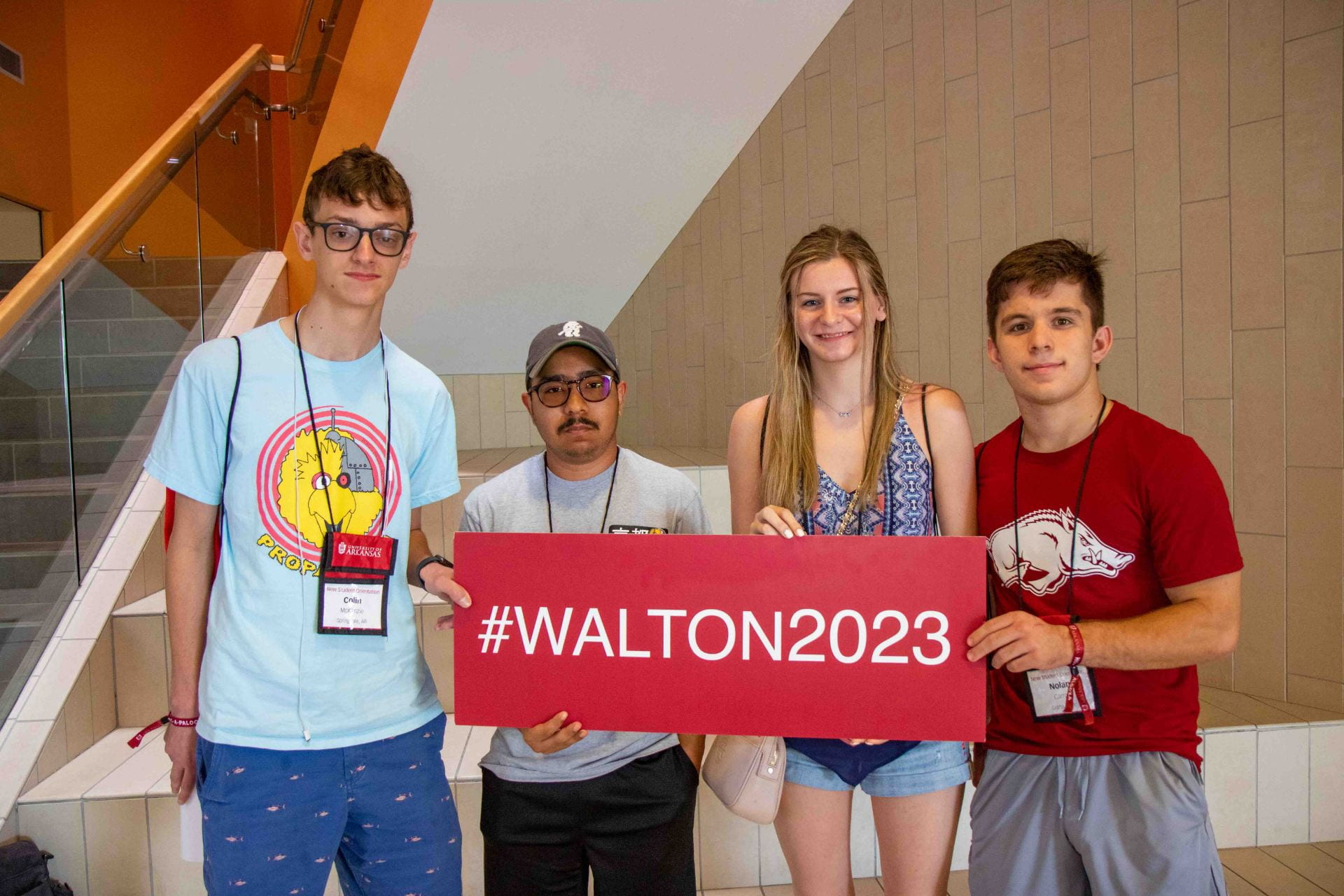 Students at 2019 Walton College orientation