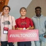 Students from Walton College orientation 2019