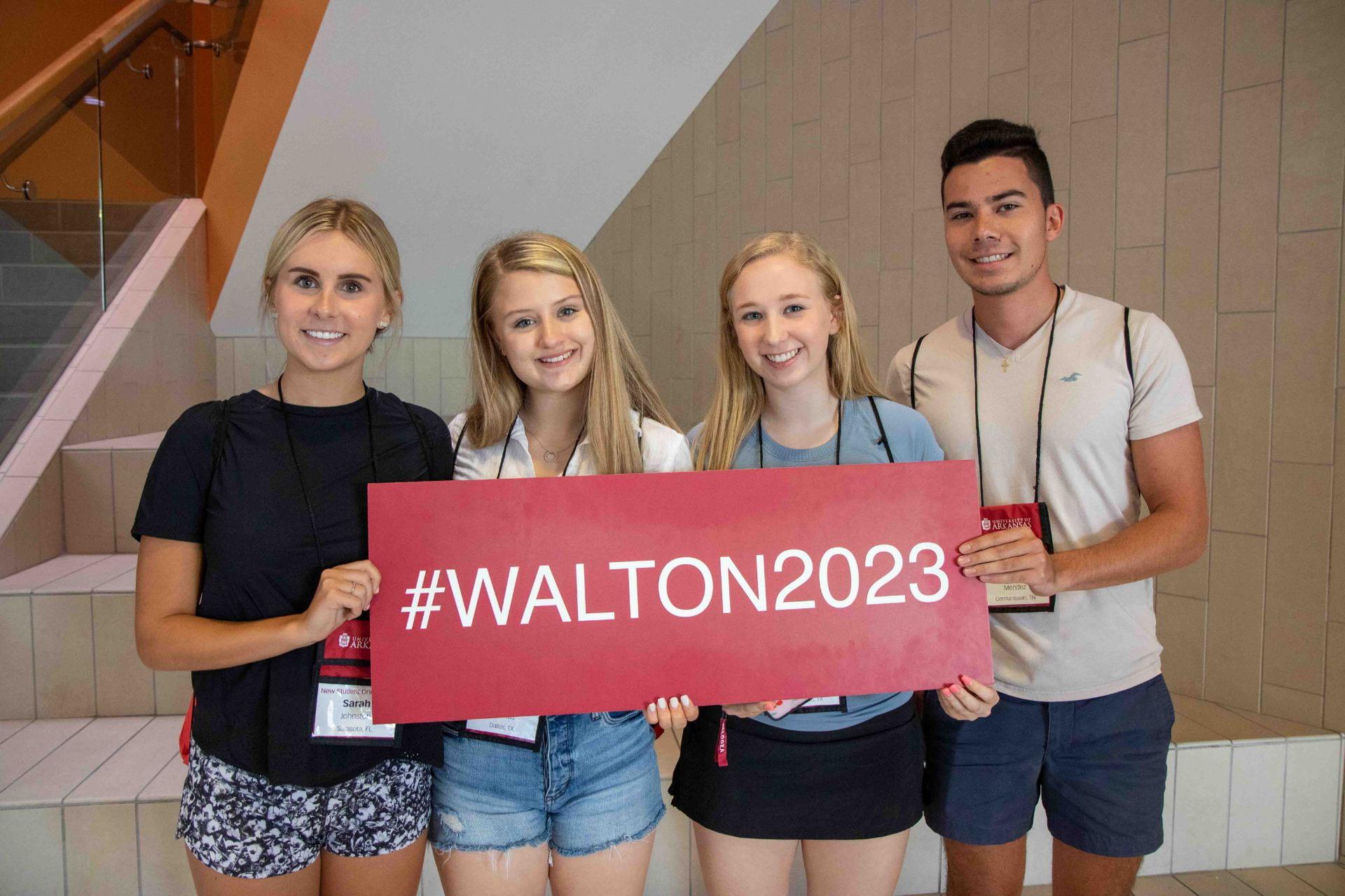 2019 orientation students for Walton College
