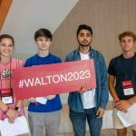 2019 orientation students for Walton College