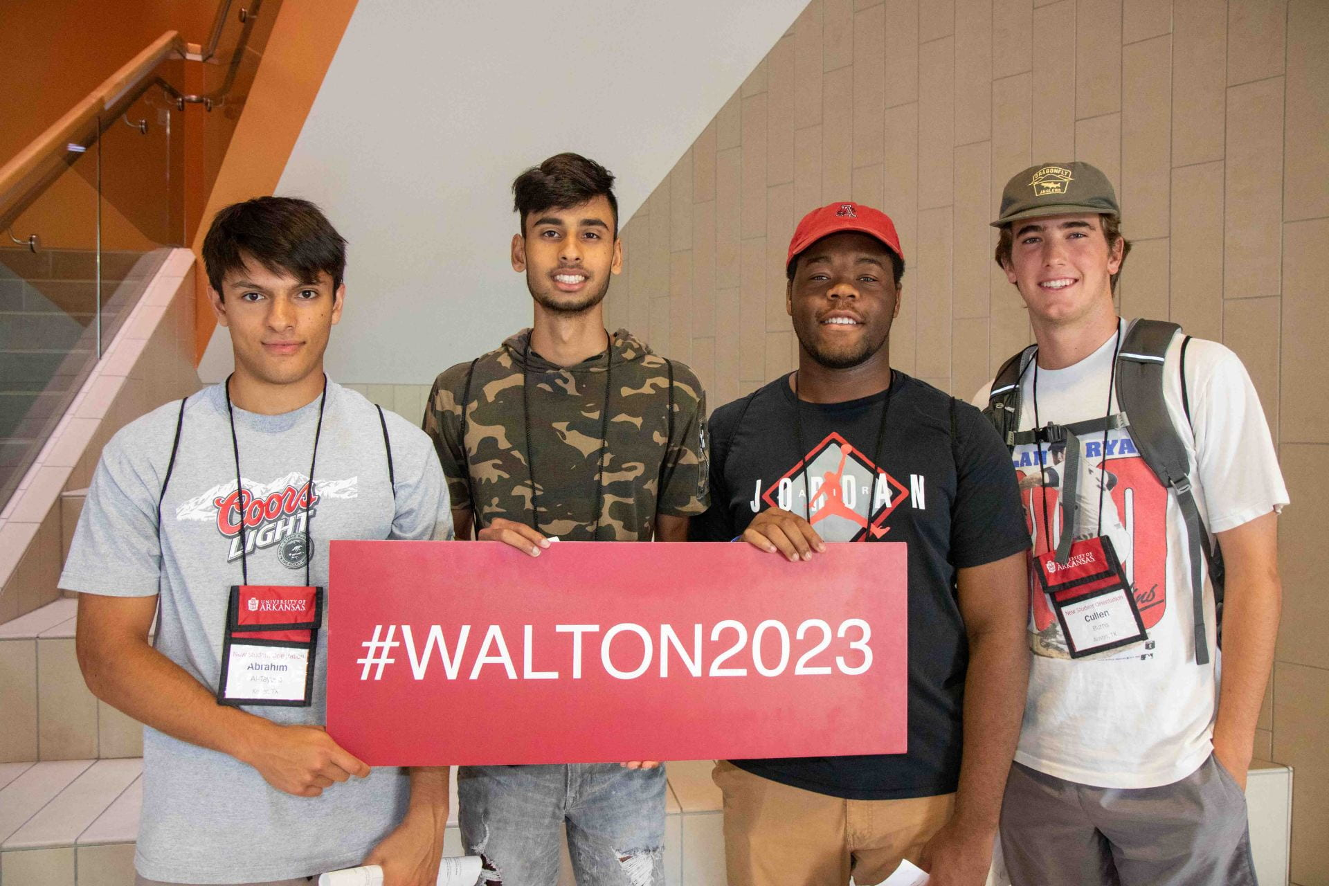 Walton College orientation students 2019