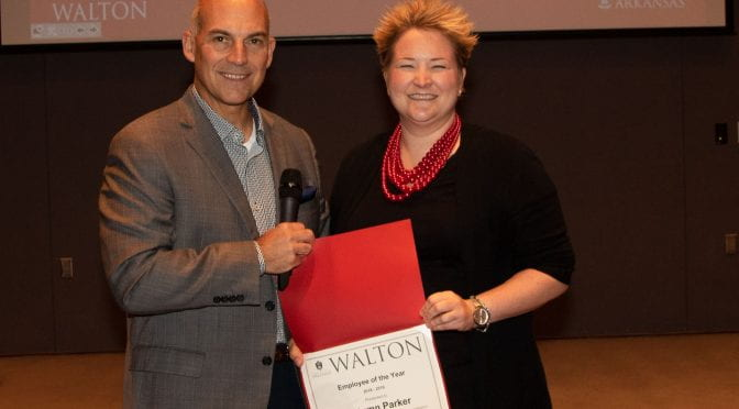 Parker Selected as Walton College Employee of the Year