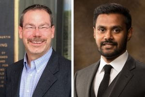Greg Pogue, left, and Mervin Jebaraj, right.