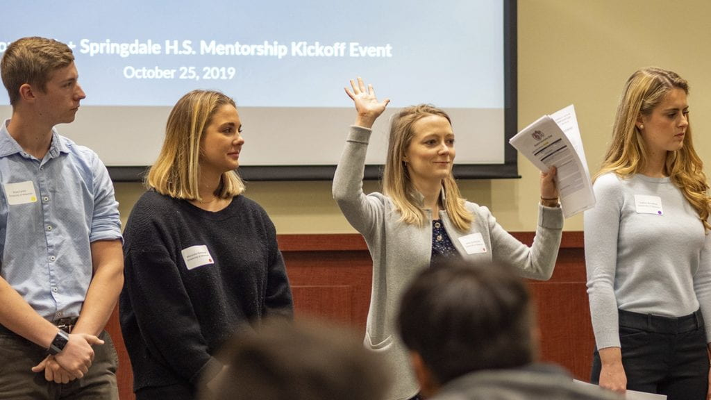 Walton MBA and Springdale High School Students Join Forces with New Mentorship Program