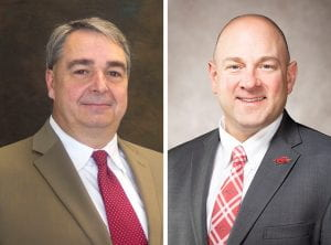 L-R: clinical associate professor John Kent and associate professor David Dobrzykowski.