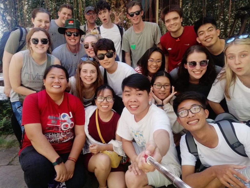 Walton College Vietnam study abroad: group.