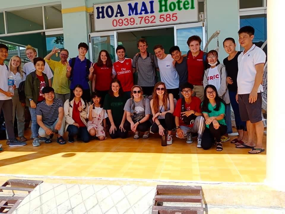 Walton College Vietnam study abroad at hotel.
