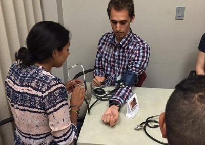 Learning how to take a blood pressure reading