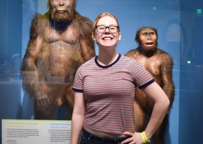 Amber visiting the Perot Museum of Nature and Science