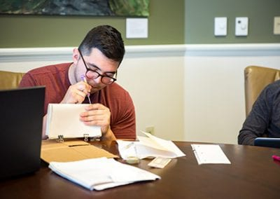 Josh Smith, Faculty, Making a Manuscript, honors, Students, classroom