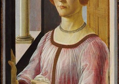 Sandro Botticelli, Portrait of Smeralda Brandini, ca. 1475.