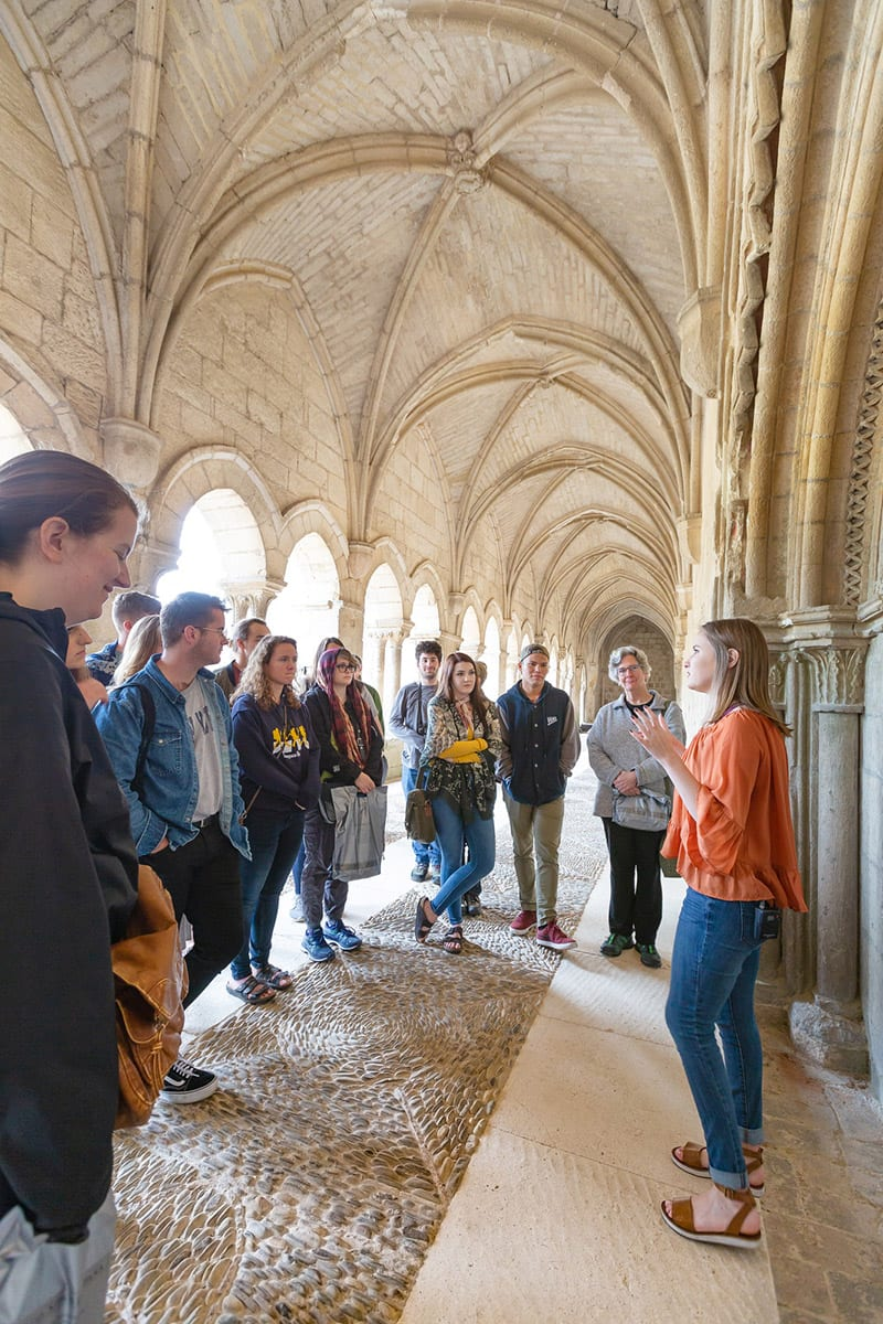 Darci Walton presents at Las Huelgas, a 12th century convent where royal abbesses reigned