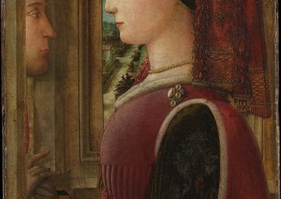 Fra Filippo Lippi, Portrait of a Woman with a Man at a Casement, ca. 1440.