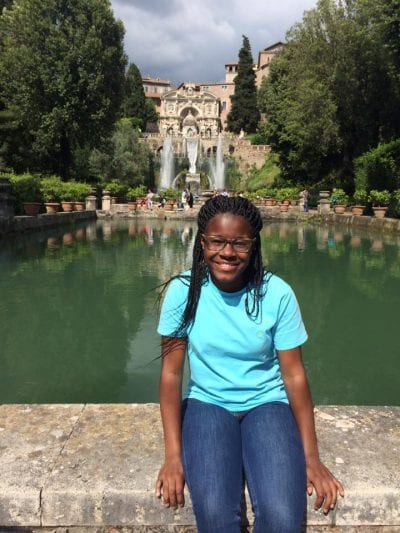MyKayla at the Villa d'Este