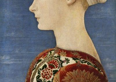 Antonio del Pollaiuolo, Profile Portrait of a Young Lady, 1465.