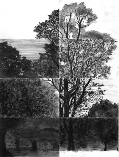 This collective sketch of a tree, a gift from Terry's students, helped assuage a difficult loss.