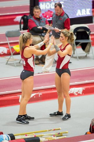 Lexi Weeks and Tori Hoggard at competition