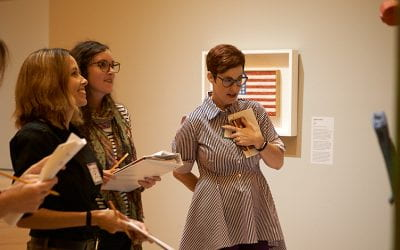Professor of Art Museum Education Leads Workshop on Mixed Media Arts Integration