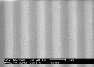 500 nm width metallic gratings array