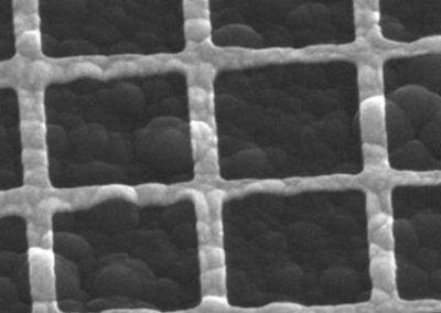Metallic fishnet structure on a-Si (roated and tilted image)