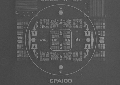 JEOL test pattern fabricated on c-Si