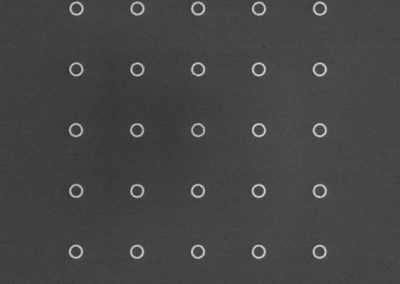 100 nm width metallic nanoring array