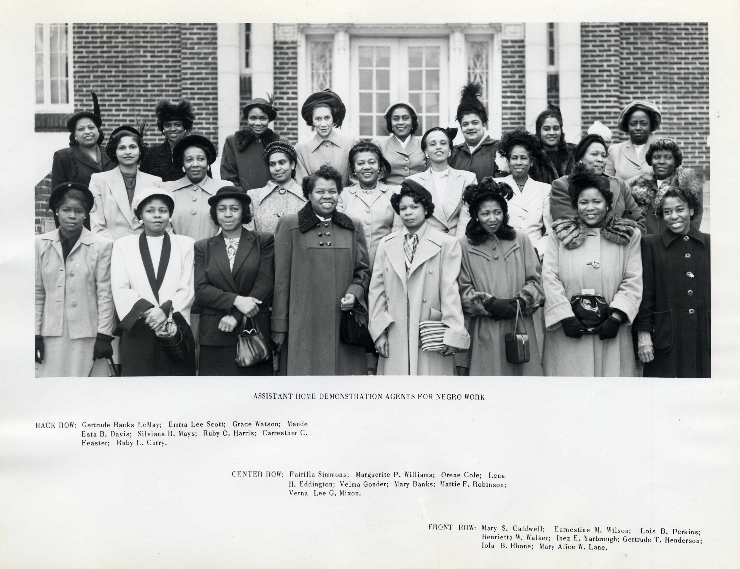 photograph: Assistant Home Demonstration Agents for Negro Work