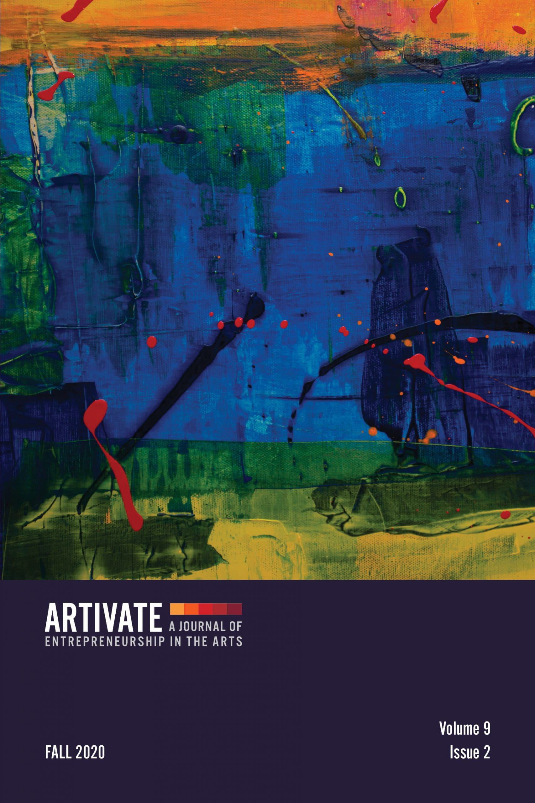 cover for the journal Artivate: A Journal of Entrepreneurship in the Arts Volume 9 issue 2