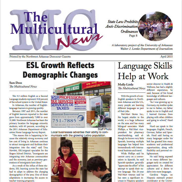 April 2015 Multicultural News front page