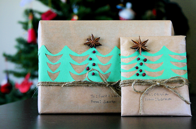 Brown Paper Packages Tied Up with String by Flickr user LornaWatt