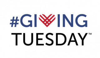 "The Giving Tuesday logo: #Giving is in blue and the ""v"" is replaced by a red heart. ""Tuesday"" is under the word ""#Giving"" in black."
