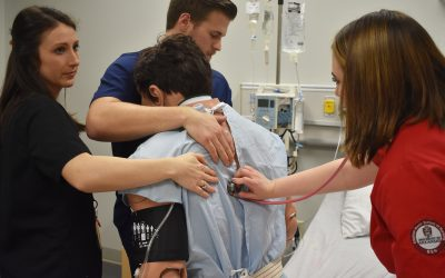 UAMS Physical Therapy Students Practice in U of A Nursing Simulation Labs