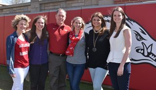 Anne Marie Velliquette, from left, Jordan Platt, Michael Johnson, Heather Blunt-Vinti, Sarah Stokowski and Blakely Low are some of the faculty and staff members who worked on the proposal and will help implement the project.