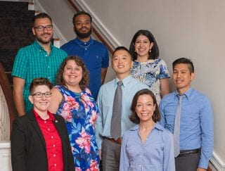 New faculty members in the College of Education and Health Professions include, back row, Anthony Vajda, Justin Adams, Elsa Camargo; middle row, LJ Shelton, Jeanne Eichler, Albert Cheng, Jonathan Wai; front row, Allison Ames Boykin.